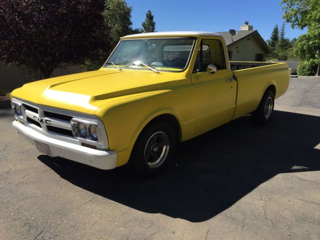 1967 Yellow GMC Other Standard Cab Pickup with White interior