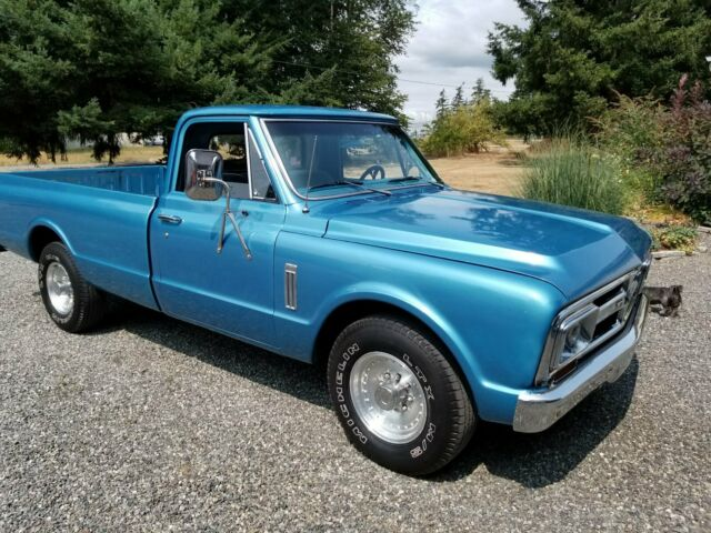 1967 Blue GMC 2500 Standard Cab Pickup with Gray interior