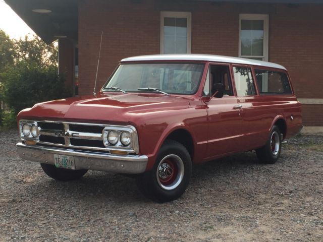 1967 gmc suburban low mileage oregon survivor for sale. Black Bedroom Furniture Sets. Home Design Ideas