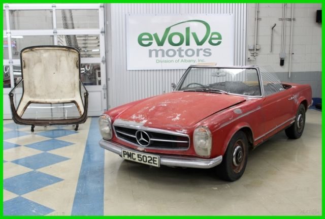 1967 mercedes benz 250sl right hand drive california coupe barn find rare car for sale photos. Black Bedroom Furniture Sets. Home Design Ideas