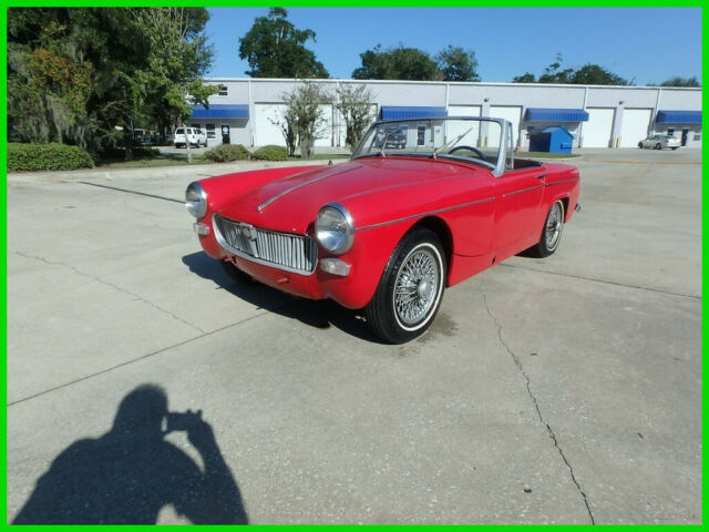 1967 MG MIDGET SHOWS 63K MILES ON IT, FLORIDA CAR SOLID BODY BUY IT 2850.00!!!!