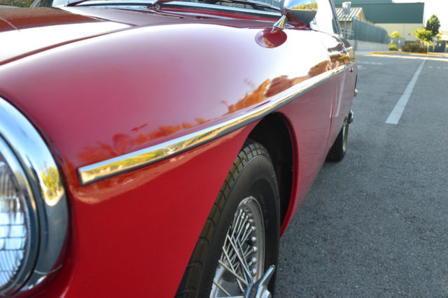 Northern California No Rust: 1967 MGB GT, California Car, Straight, Rust Free Driver
