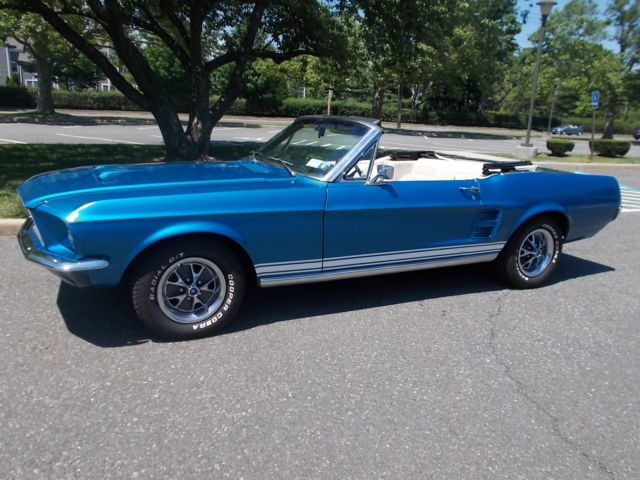 1967 mustang convertible 289 auto ac original red deluxe interior car - 1967 Ford Mustang Convertible Interior