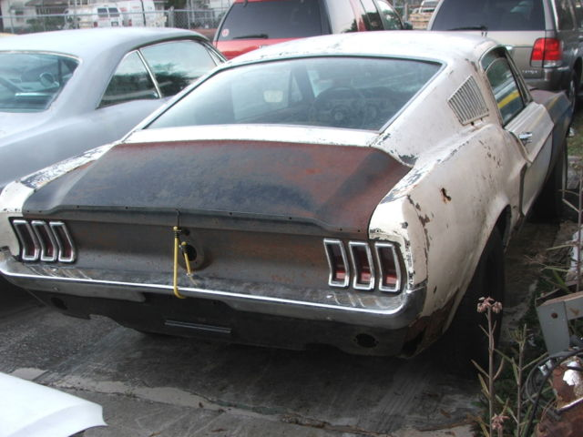 1967 mustang fastback 7t02c210399 project car for sale photos technical specifications. Black Bedroom Furniture Sets. Home Design Ideas