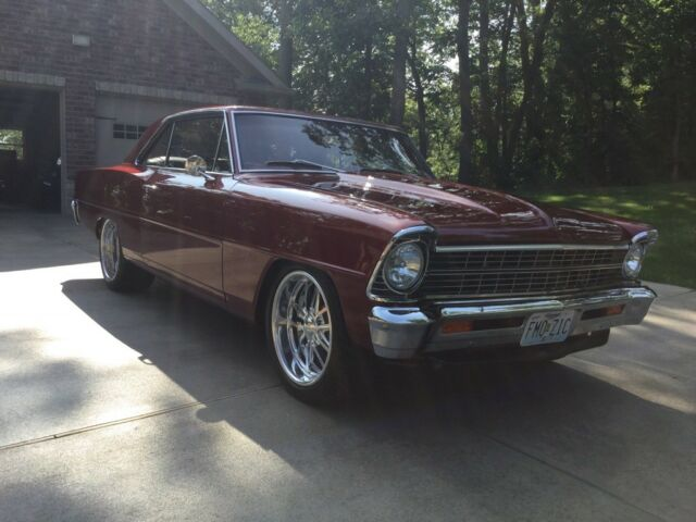 1967 Brown Chevrolet Nova 2 door hardtop Coupe with Brown interior