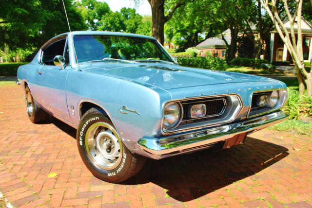 1967 Plymouth Barracuda Formula S 383 Big Block 4-Speed Superb Example