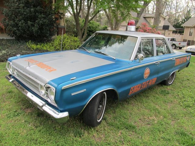 1967 Plymouth Belvedere Georgia State Patrol Recreation for