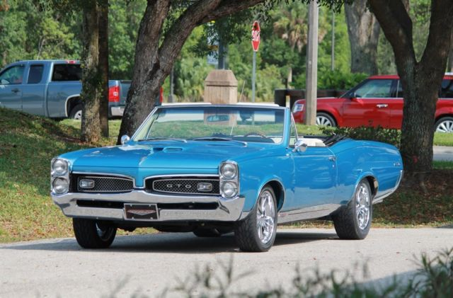 1967 Pontiac GTO Convertible 5 Speed Tremec A/C 400CI Tri Power