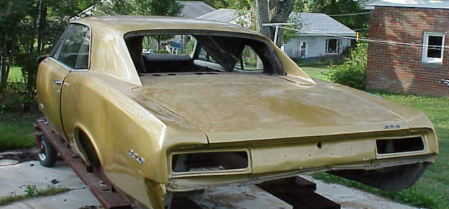 1967 Pontiac Gto 400 Project Car For Sale: 1967 PONTIAC GTO COUPE PROJECT GOOD TITLE AND LEMANS PARTS