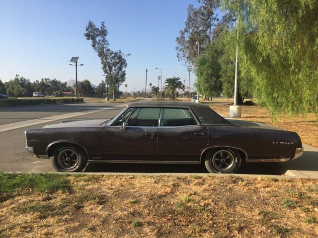 1967 pontiac lemans 326 v8 rust free 95k original miles for sale