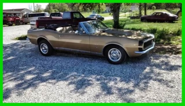 1967 Chevrolet Camaro SOLID GOLD CONVERTIBLE! REAL DEAL RS!-NEW LOW $$