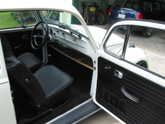 1967 White Volkswagen Beetle - Classic Sedan with Black interior