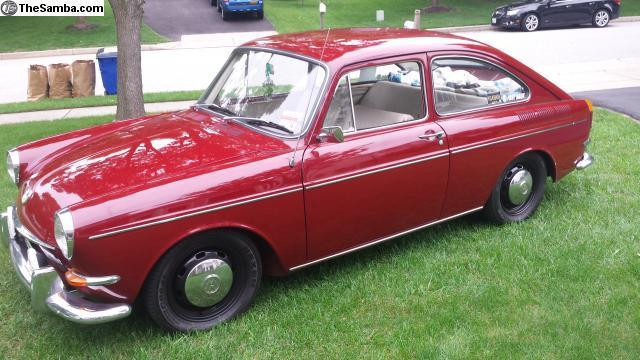 1967 VW Fastback Type 3 with the pop out rear windows for