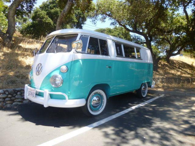 1967 vw rivera split window bus walk through camper van carmel valley ca for sale. Black Bedroom Furniture Sets. Home Design Ideas