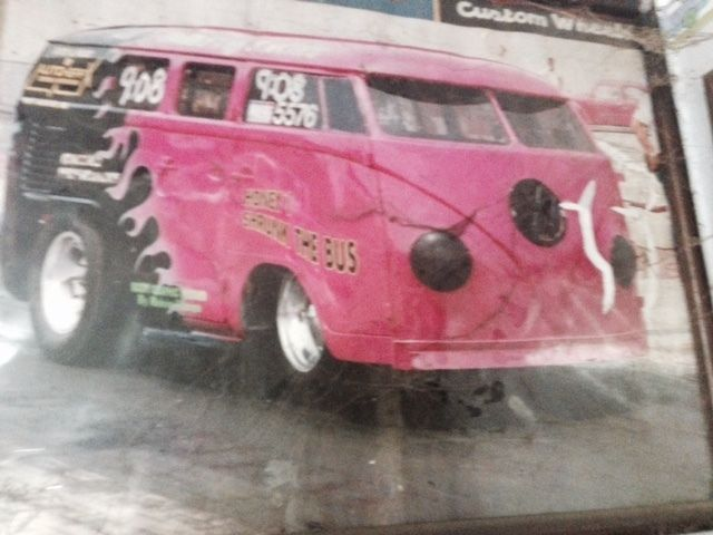 1967 Vw Split Window Vintage Drag Car Race Bus Van Chopped