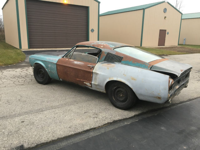 1968 68 Mustang fastback J code AC Project car Shelby clone