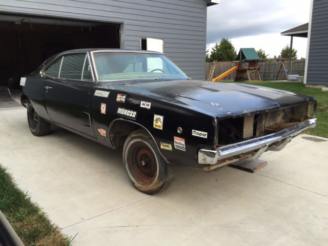 1970 Dodge Charger Rt Project Car Overall Solid Car For Sale: 1968 68 R/T RT Clean Clear Title Project 440 Big Block