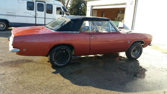 1968 Barracuda Convertible Formula S 383 4 Speed 1 Of 40 Built Rare