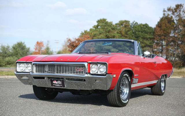 1968 Red Buick GS400 GS 400 Convertible with Black interior