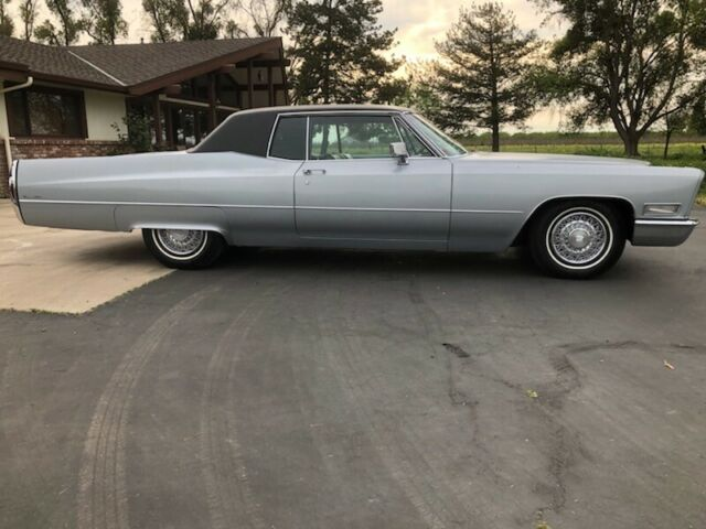 1968 Gray Cadillac DeVille Coupe with Black interior