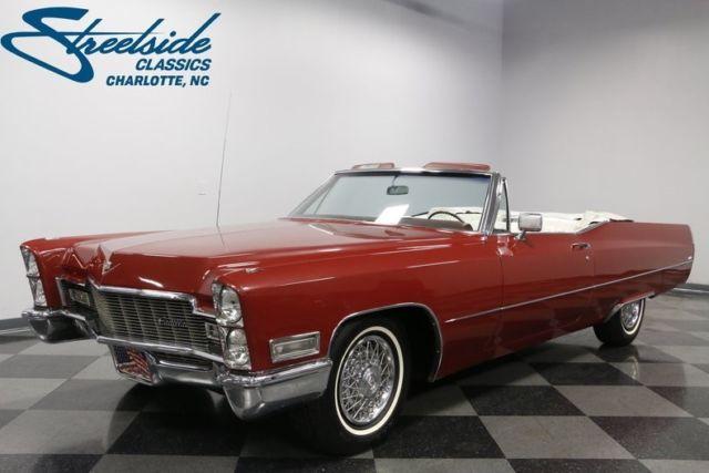 1968 Cadillac Deville Convertible 91441 Miles San Mateo Red 472 V8 3