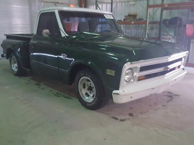1968 Chevrolet C 10 Stepside 67184 Miles Green Pickup Truck 6 Cyl Automatic