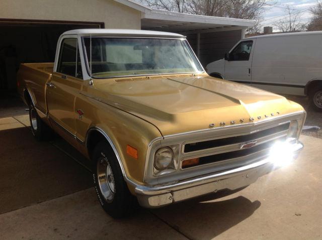 1968 Chevrolet C10 Anniversary Gold Shortbed Fleetside For Sale Photos Technical