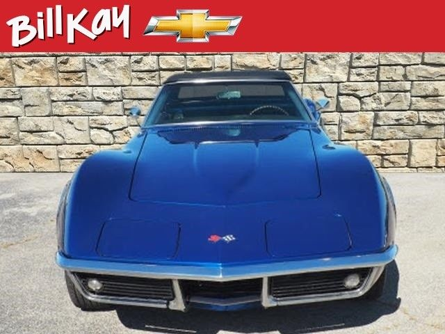 1968 Blue Chevrolet Corvette Convertible with Black interior