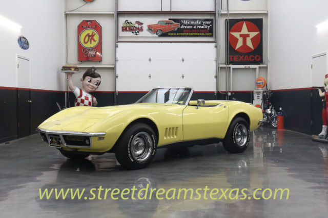1968 Chevrolet Corvette 68 327 alum heads 4spd two top roadster