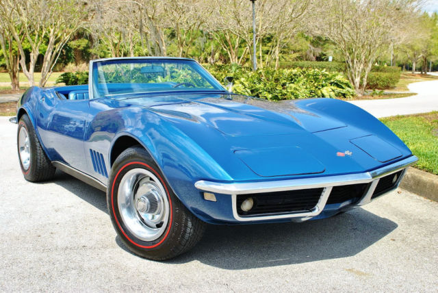 1968 Chevrolet Corvette Convertible Numbers Matching 327/350hp 4-Speed