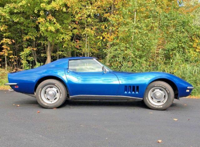 1968 Chevrolet Corvette Electric Blue T Top No Reserve