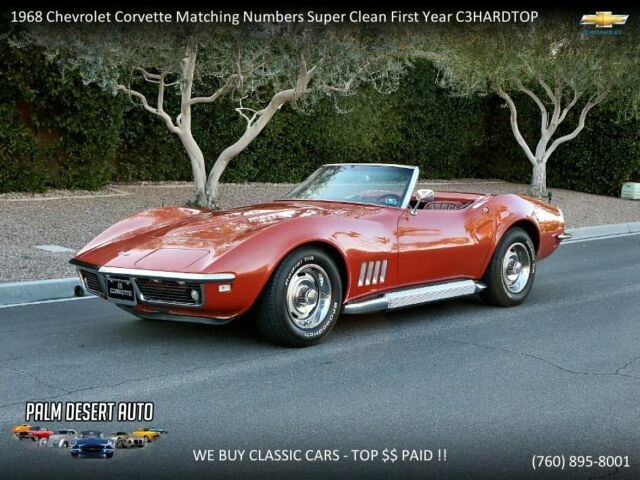 1968 Chevrolet Corvette Matching Numbers Super Clean First Year C3+HARDTOP!!