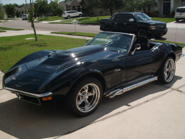 1968 Chevrolet Corvette Triple Black Roadster 355ci 420hp