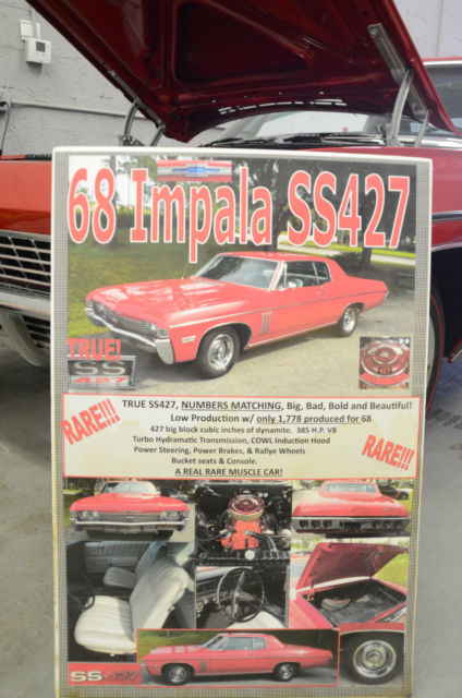 396 Best Images About Astrology On Pinterest: 1968 Chevrolet Impala SS 427 Big Block Not 396 1967 1966