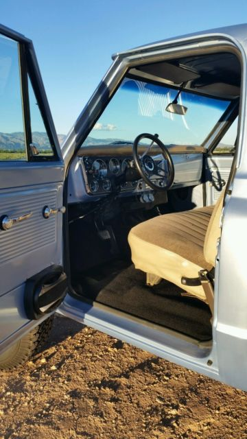 1968 Blue Chevrolet C-10 with Black/Tan interior