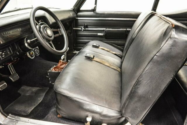 1968 Silver Chevrolet Nova Coupe with Black interior