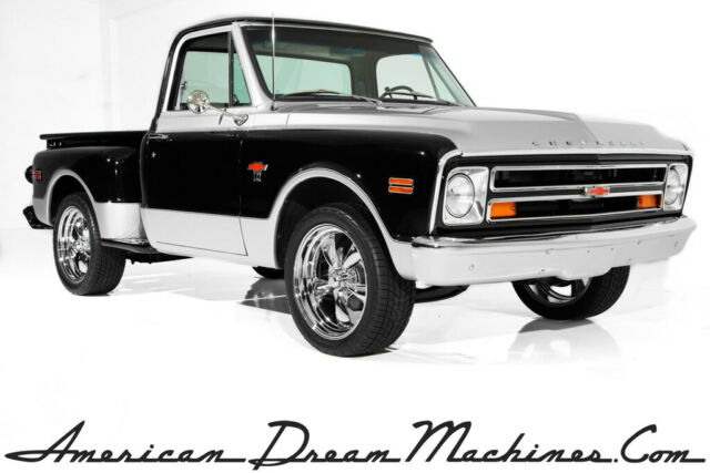 1968 Chevrolet Pickup C10, Black/Silver, Shortbox, Stepside