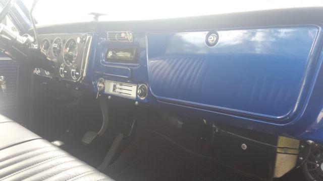 1968 Chevy Blue Stepside K20 4x4 Truck Short Bed Frame Off