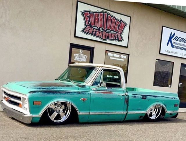 Truck Exhaust Kits >> 1968 Chevy C10 SWB Patina Show Truck LS3 Custom Shop Truck for sale: photos, technical ...