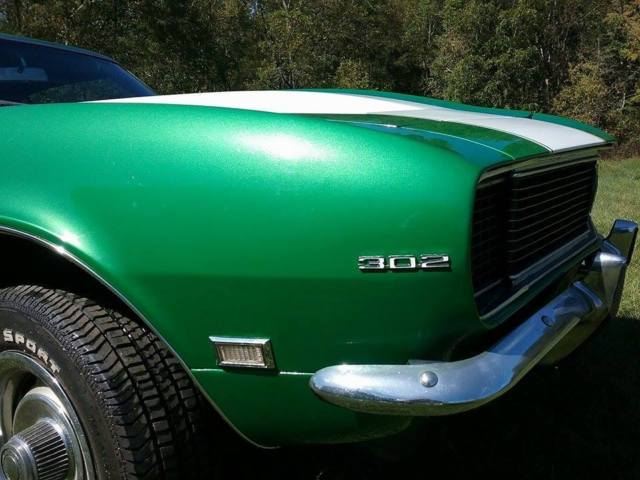 1968 Green Chevrolet Camaro Coupe with Black interior