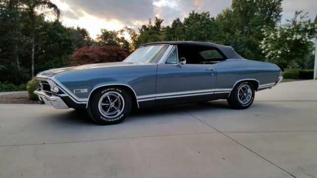 1968 CHEVY CHEVELLE 13867 VIN NUMBER SS CONVERTIBLE for sale