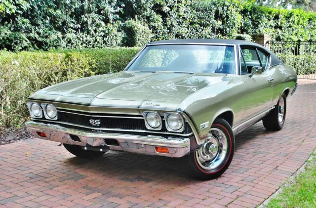 1968 Chevrolet Chevelle SS396 #'s Matching Build Sheet Buckets Factory A/C