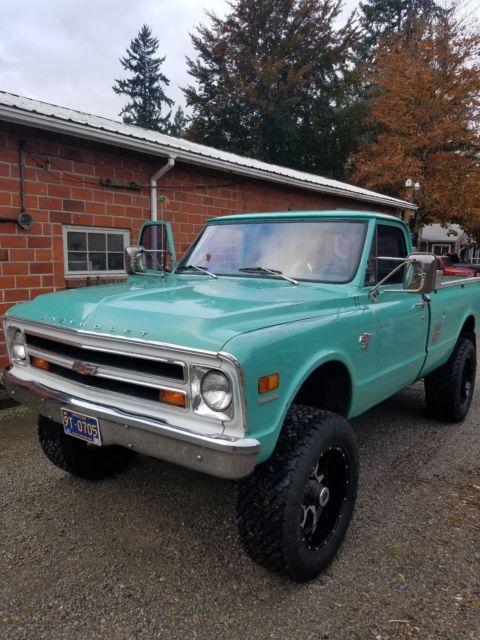 1968 Chevy truck 3/4 ton 4X4 long box converted to a 1 ton