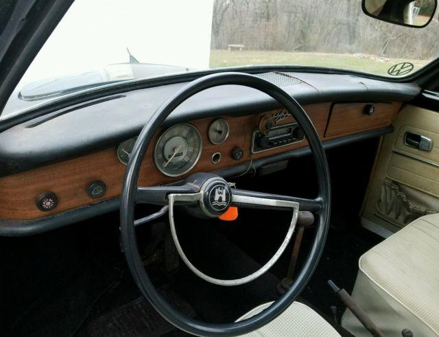 1968 Classic Vw Karmann Ghia Convertible Black With White