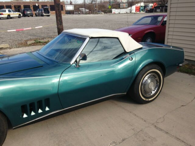 1968 Green Chevrolet Corvette Convertible with Black interior