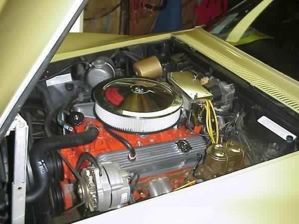 Corvette Sport Coupe Hp W Orig Motor Alongside Car