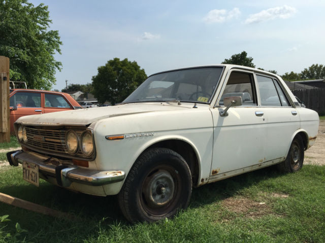 1968 Datsun 510 bluebird 4 dr sedan - white - 68K Original ...