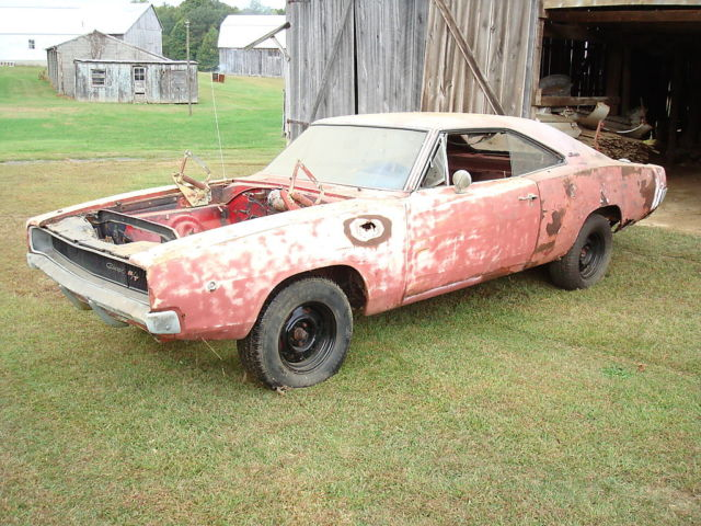 1968 dodge charger r t red 440 auto needs restoration new metal included for sale photos. Black Bedroom Furniture Sets. Home Design Ideas