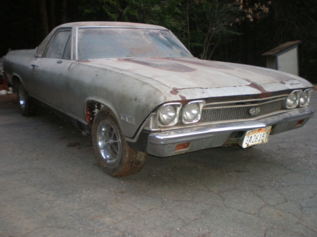 1968 Chevrolet El Camino 1 OWNER 41K MILES SS # MATCHING 396 4SP 410 POSI