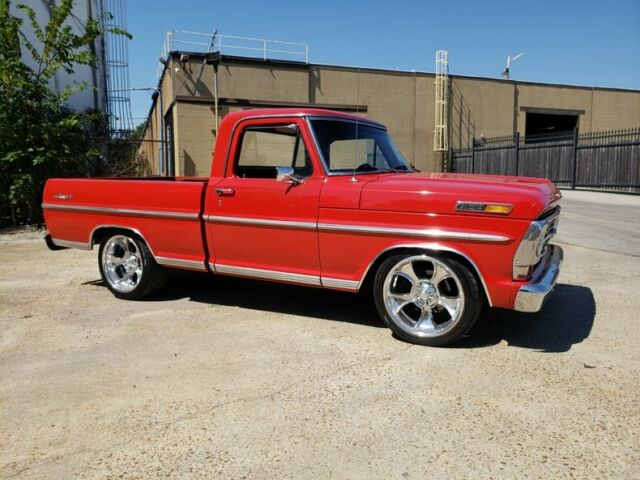 1968 Red Ford F100 Ranger Pickup (Truck) with Black interior